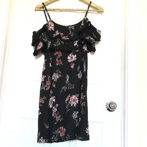 Angie Black Floral Lilly Off The Shoulder Dress